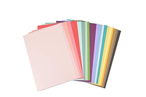 Sizzix Surfacez-Cardstock Blatt, 80 Stück, 20 Stück, Bastelpapier für Kartenherstellung, Scrapbooking & Bastelprojekte, mehrfarbig, 29,7 x 20,96 x 2,29 cm, 663007