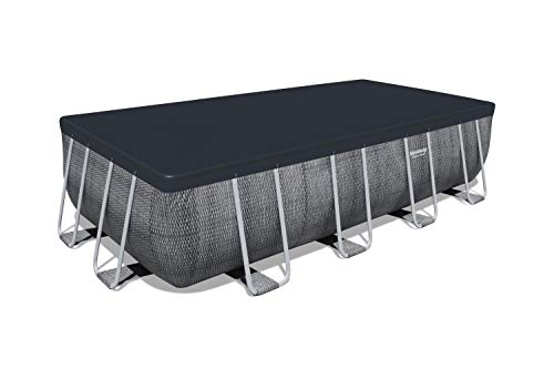 Bestway Piscina Power Steel Rettangolare 4.88m x 2.44m x 1.22m FUORITERRA, Colore, 488x244x122 cm