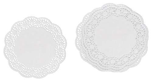VBS Papier Spitzendeckchen weiß ca. Ø 10cm 50 Stück Tortendeckchen Tortensetzter Torten