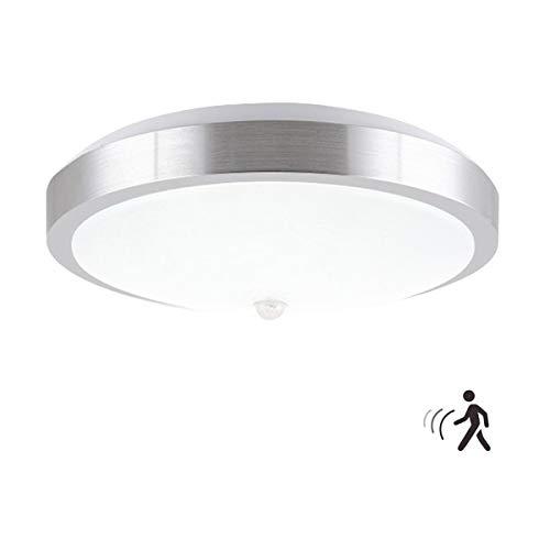 ZHMA Luz de sensor de movimiento, 12W PIR LED Luz de techo, Auto encendido/apagado luces nocturnas, 960LM, blanco frío, luces de seguridad para el pasillo, baño, dormitorio, cocina