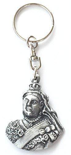 Emblems-Gifts Schlüsselanhänger aus Zinn, Motiv: Königin Victoria, handgefertigt + Abzeichen + Organza-Beutel