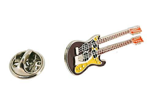 Gemelolandia | Pin de Solapa Guitarra Eléctrica Doble Mástil | Pines Originales...