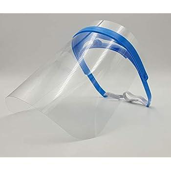 Pantallas Protección Facial Transparente – Pack de 4 Viseras Protección de Cara, Abatibles y Reutilizables – Máscara protectora para uso profesional y doméstico con banda elástica ajustable: Amazon.es: Industria, empresas y ciencia