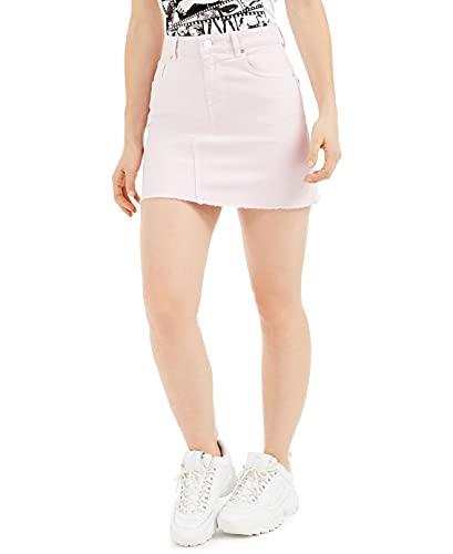 Guess India Mini Skirt Falda, Rosa, 26 Mujer