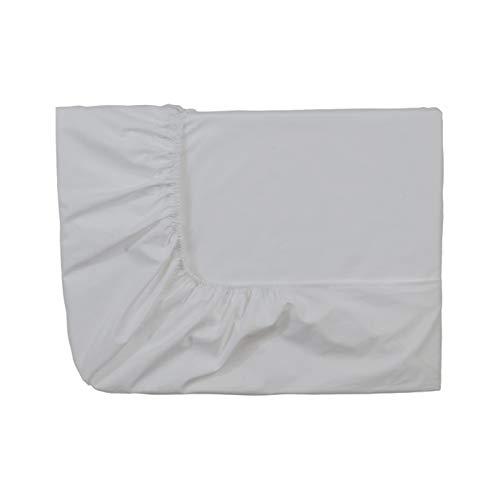 Essix Home Collection - lenzuola singolo singolo con angoli, in cotone percalle, numero fili: 80, Grigio Perla, 140 x 200 cm
