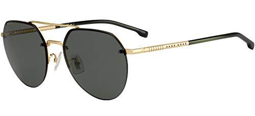 Hugo Boss Sonnenbrillen (BOSS-1142-FS 0Y8QT) gold matt - grün - brau-grün