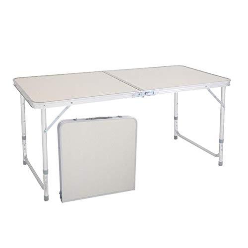 Jullynice Folding Table Aluminum Folding Camping Table Portable Picnic Table, Folding Plastic Dining Table for Indoor Outdoor, Picnic, Camping, Party and BBQ (120 x 60 x 70cm)
