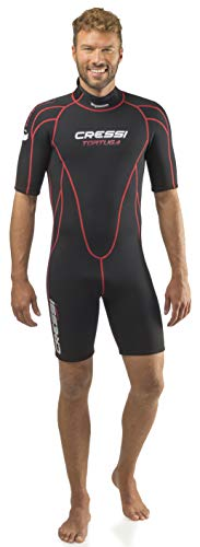 Cressi Tortuga Man Wetsuit 2.5mm Combinaisons Shorty en Neoprene 2.5 mm High Stretch - Homme Men's,...