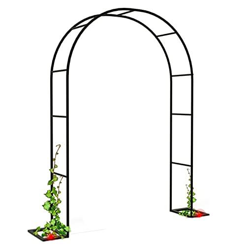 LJHSS Arco de jardín,Arco de Rosas Puerta Metal Soporte para trepadoras,para Plantas Soporte Rosas Escalada Archway Jardín Decoración