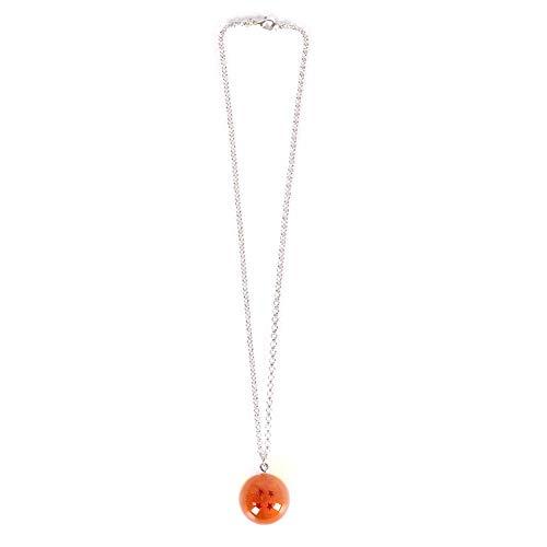 Ailin Online Dragon Ball Halskette, 1.2 inch Kristall Acryl Glas 7 Stars Bälle Halskette für Cosplay - 4 Stars
