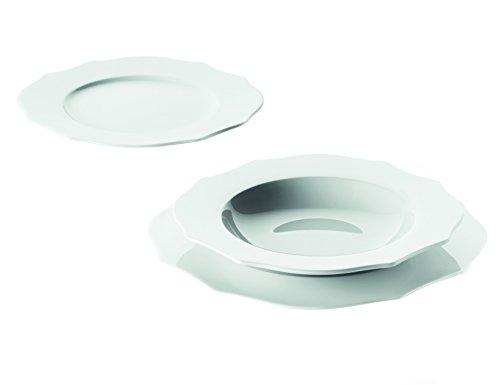 Guzzini Belle Époque Set 6 Posti Tavola, Porcellana, Bianco, 6 unità