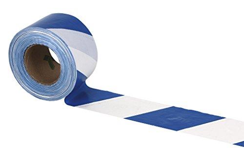 Cofan 11000325 Cinta Balizamiento, Azul y Blanco, 80 mm x 200 m