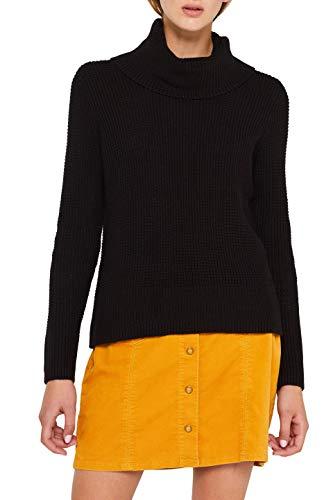 edc by ESPRIT Damen 109CC1I020 Pullover, Schwarz (Black 001), Medium (Herstellergröße: M)
