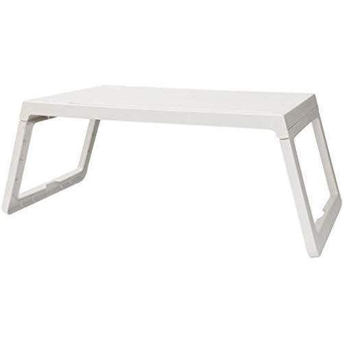 Mesas SHPING Mesa De Ordenador Portatil, Mesa Portatil Dormitorio, Escritorio Portatil En La Cama, Firme Y Fuerte, Facil De Limpiar (54,5 × 36 × 27 Cm) (Color : White)