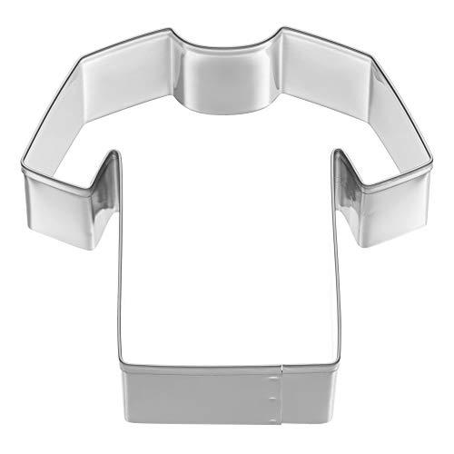 Kaiser Cortador de galletas con diseño de camiseta de fútbol, de acero inoxidable, 8 x 7 x 2,5 cm