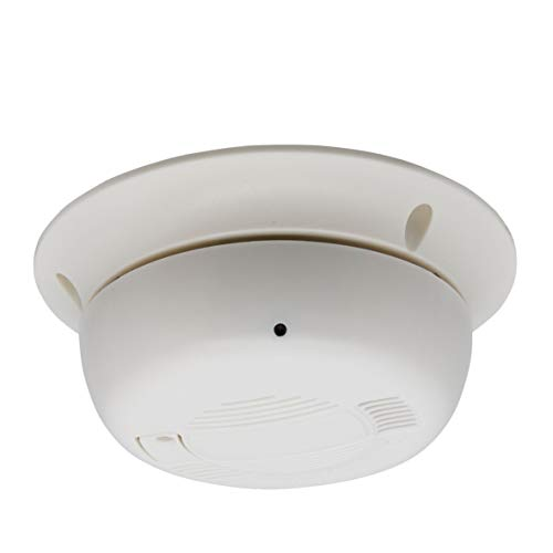 Inwerang 2.4MP Smoke Detector CCTV Camera, 4-in-1 TVI/AHD/CVI/960H Indoor Outdoor Spy Hidden Surveillance Security Covert Camera with 3.7mm Pinhole Lens,Switchable Output