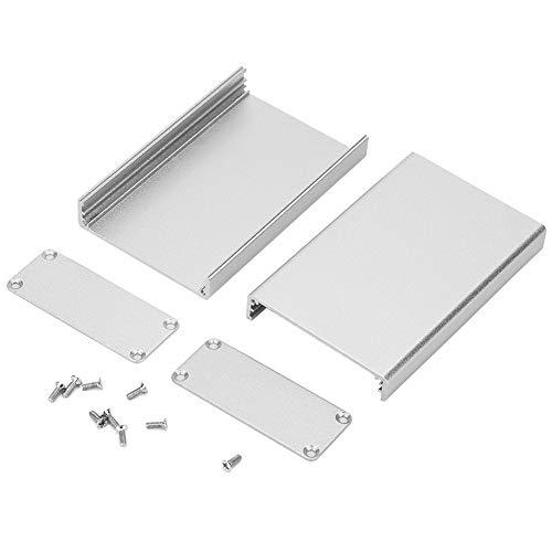 Boaby Aluminium Kühlbox Aluminiumgehäuse PCB Instrument Shell Elektronische Kühlbox Silber 20 * 50 * 80mm