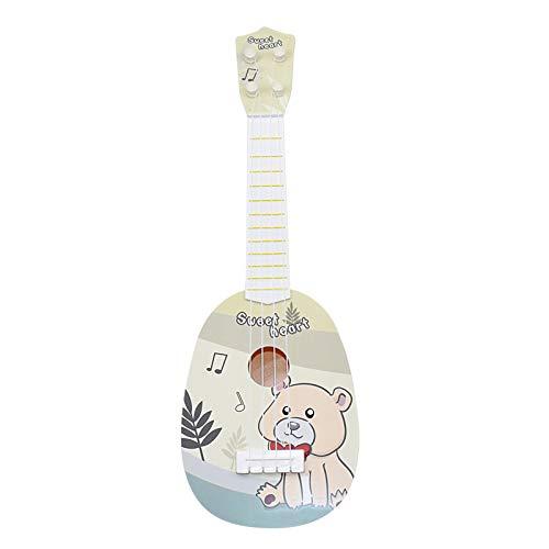 ギター 子供用 おもちゃ ウクレレ こども用 4弦 初心者 楽器玩具 知育玩具 かわいい ミニギター 18カラー (くま)