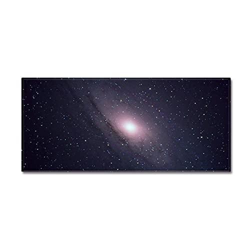 NTtie Dormitorio Sala de Estar Antideslizante Alfombra de la para el Juego de los niños Decora el Alfombrilla Antideslizante cósmica de Cielo Estrellado de Cocina