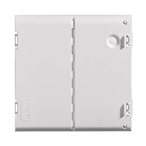 "Leviton 49605-14S 14"" Wireless Structured Media Center Vented Hinged Door Only, White"