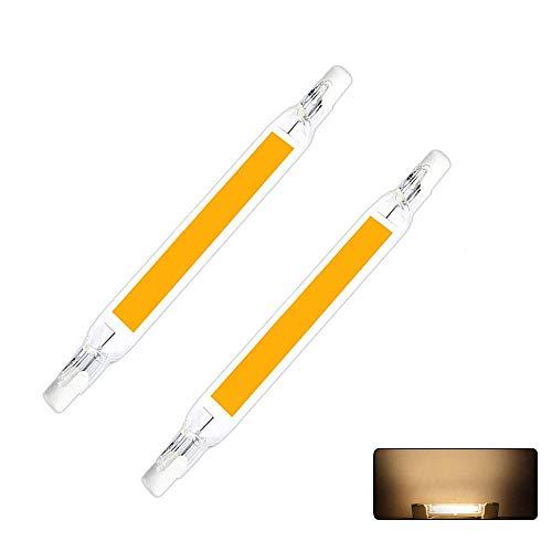 R7S LED Glühbirnen, MiEncounter 78/118mm LED Cob Lampe AC 5/10W Ersetzen Sie die Halogenlampe LED Spot Glühbirne 2er Pack (Warmweiß, 15W-118mm-230V)