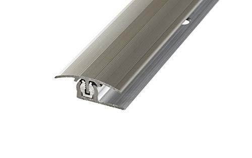 Übergangsprofil Übergangsleiste Höhenausgleichsprofil PROLINE PROVARIO Uni, 7-18 mm, Aluminium, 100 cm, eloxiert Edelstahl