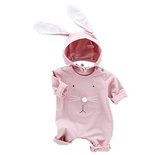 AIKSSOO Trajes de Pascua para bebs y nias y nios, mono de conejo, mameluco para recin nacidos con gorro de conejo