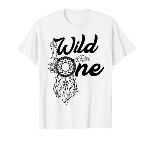 Atrapasueos Atrapasueos Nativo Americano Wild One Boho Camiseta