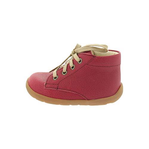 Däumling Schuhe für Babys Lauflernschuhe Nappa CFtramonto Dunkelrot 0300M13 (Numeric_18)