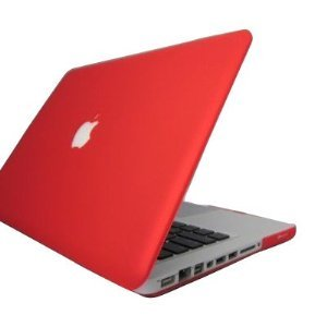 IDACA® Polycarbonate Hartschalenkoffer Case Cover Hülle ohne Logo für MacBook Pro 13 zoll A1278 13,3 Zoll (MD101D/A,MD313D/A,MD102D/A,MD314D/A zur Verfügung stehen) wtih red / rot mattierte Oberfläche