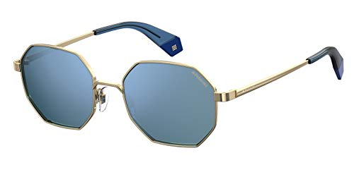 Polaroid PLD 6067/S Occhiali da Sole, Gold Blue, 53 Unisex-Adulto