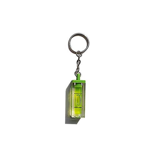 Schlüsselbund 2 Stück Schlüsselanhänger Kreis Mini Acryl Wasserwaage Schlüsselbund Schlüsselbund Schlüsselbund Pocket Tool Gadget Geschenk Auto Ring