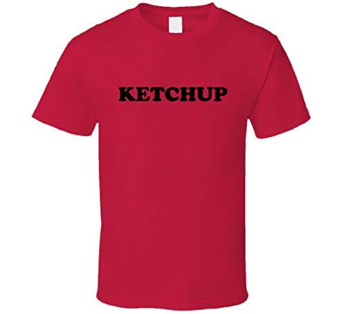 ABADI Ketchup Disfraz de Condimento de Halloween Camiseta Rojo