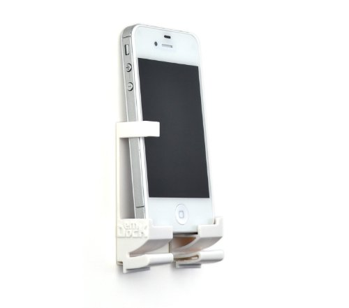 windows for iphones Dockem Wall Mount and Dock for iPhone, iPad, Android and Windows Tablet or Smartphone - White