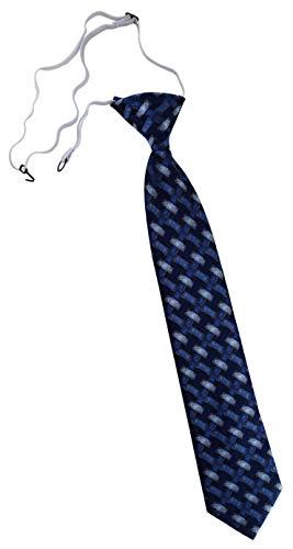 TigerTie Security Sicherheits Krawatte in blau marine dunkelblau - Motiv Flechtmuster - vorgebunden mit Gummizug