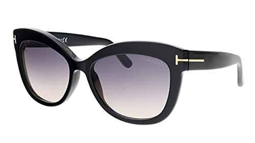 Tom Ford FT0524 01B Shiny Black Alistair Cats Eyes Sunglasses Lens Category 2 S