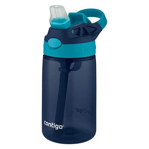 Contigo Kinder Trinkflasche Gizmo Flip Navy Blazer Autospout mit Strohhalm, BPA-freie Wasserflasche, auslaufsicher, ideal für Kindergarten, Schule und Sport, 420 ml