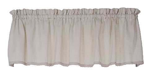 Connemara 72 Inches Wide x 14 Inches Long Linen and Polyester Valance Curtain, Natural
