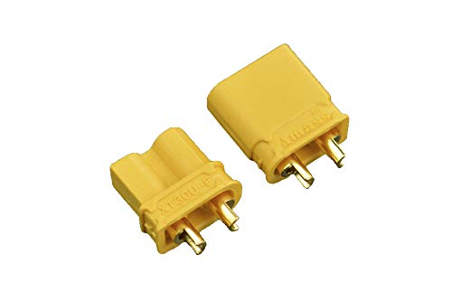 pzsmocn XT30 Banana Plug/Gold Plated XT30 Male & Female Bullet Connector,Non-Flammable,Low Resistance,Mini Size,UL/CE-Certified,for Battery,Electronic Governor,Controller.