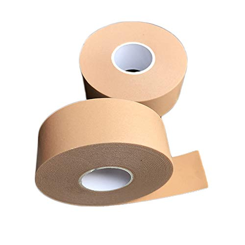 LKIUGD 2er Packung Heel Sticker Tape Atmungsaktive Verbandrolle wasserdichte Anti-Rutsch-Klebeband Unterstützung Polsterung Schaumstoffstreifen Hand Fußverband