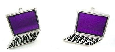 ProCuffs Violet Clavier d'ordinateur Portable Computer Boutons de Manchette Technologie