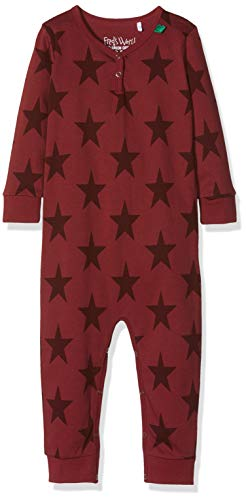 Fred'S World By Green Cotton Star Bodysuit, T-Shirt Bébé Fille, Rouge (Bordeaux 019172401), 68