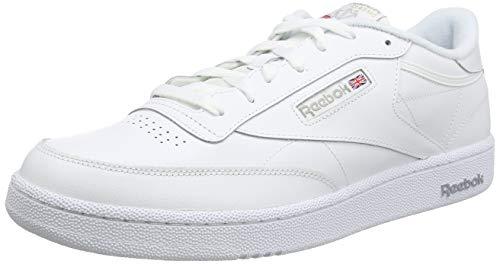 Reebok Herren Club C 85 Hallenschuhe, Mehrfarbig (White/Sheer Grey), 44 EU