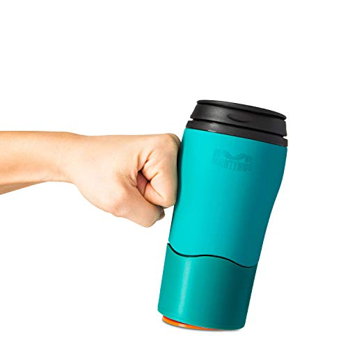 Mighty Mug Solo, Double Wall Plastic 12oz Travel Mug featuring No Spill Smartgrip Technology - Teal