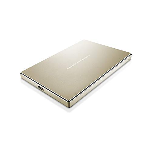 LaCie Porsche Design  Disco Duro para Mac y PC 2 TB USBC  USB 30 Color Oro