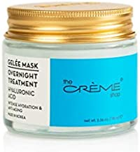 The Crème Shop Korean Skincare | Overnight Gel Mask for Moisturizing and Hydrating, Anti-Aging, Brightening, Relief facial skin care - 2.36 oz (Hyaluronic Acid)
