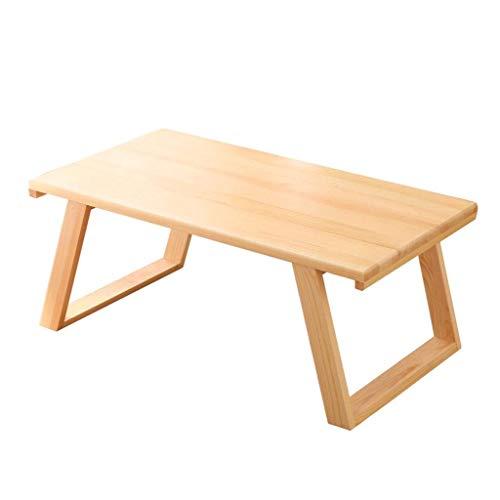 HIGHKAS Japanischer Kleiner Tisch Couchtisch aus Holz Mini-Esstisch Laptop-Tisch Studiertisch Tragbarer Kleiner Tisch Schlafzimmer Frühstückstisch Balkontische (Farbe: Holzfarbe, Größe: 70x40x30cm)