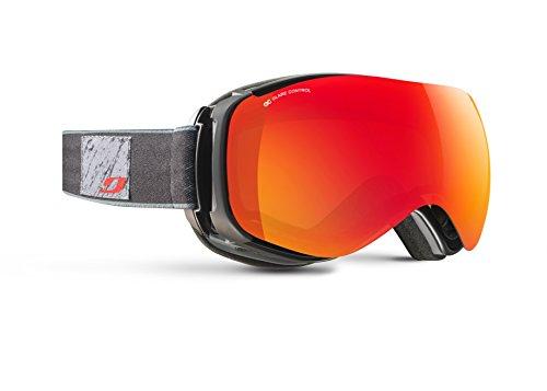 Julbo Ventilate Masque de Ski avec Le SuperFlow System avec écran polarisant Femme, Noir/Gris, L+