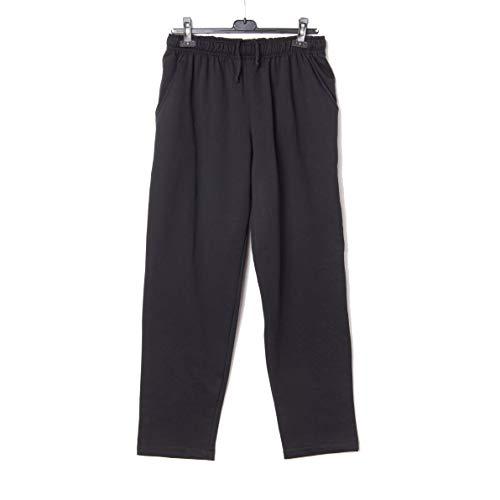 Pantalon Chandal Felpa Tallas Grandes (Negro, 4XL)