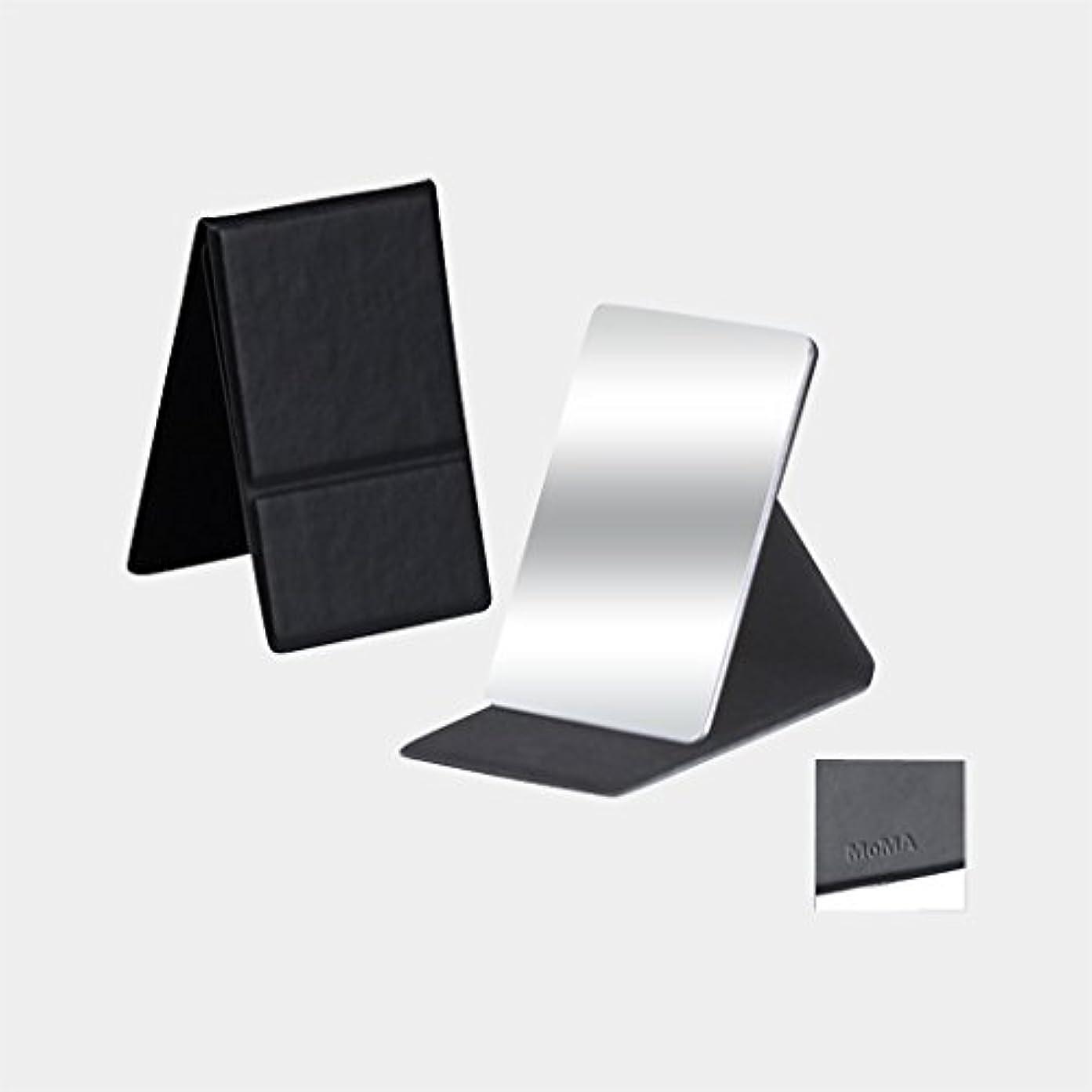 耕す右前件MoMA ステンレス コンパクトミラー ブラック